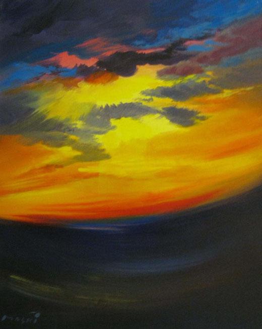 Masri - Verso il tramonto - acrilico su tela - 45 x 50