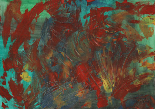 Anna Maria Crestoni - Policromia e Movimento - Olio tela - 70 x 50