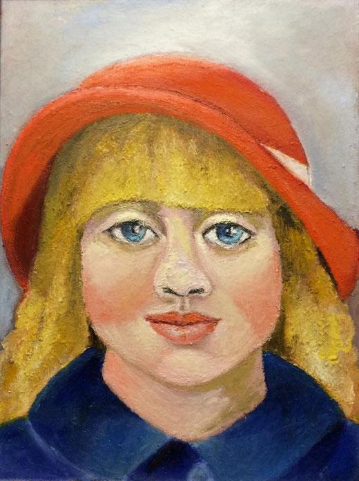 Coral Roberta (Italia) - Ritratto di bambina - olio su tela - 30 x 40