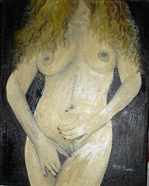Sonia Rosaria Mutti - Vergogna - olio su tela - 35 x 50