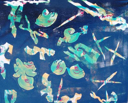 volpicella Carlo robyseplye 2011 acrilico su tela 50 X 40