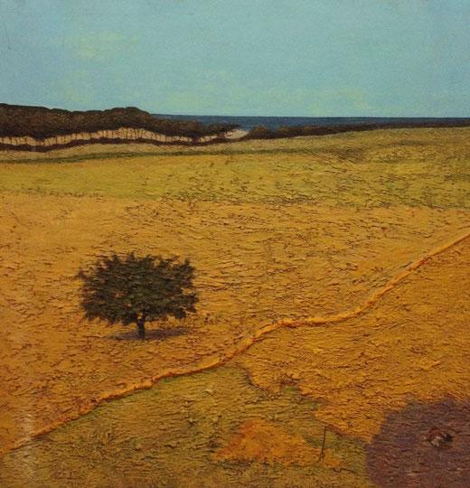 De Stefano Emidio (Italia) - Paesaggio - olio su tavola di legno - 100 x 100