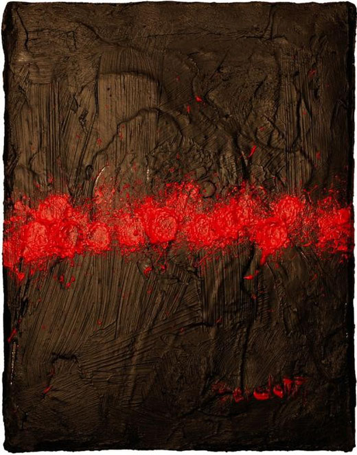 Benedetti Carolina - Cicatrice III - olio tela  - 18 X 24