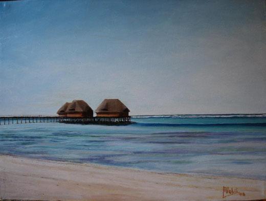 Maria Nobili - Zanzibar - olio su tela - 40 x 30