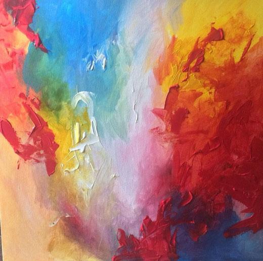 Eleanor Grove - Blurred Edges 2 - acrilico su tela 60 x 60