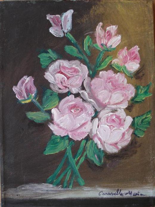 Caravello Milo Maria – Rose Olio, Tela, 30x40cm