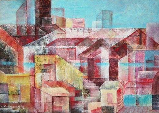 Conti Achille Alessandro (Italia) - La città ideale - acrilico tela - 70 x 50
