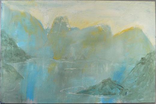 Olivier Steffens - Astratto - olio su tela - 100 x 65