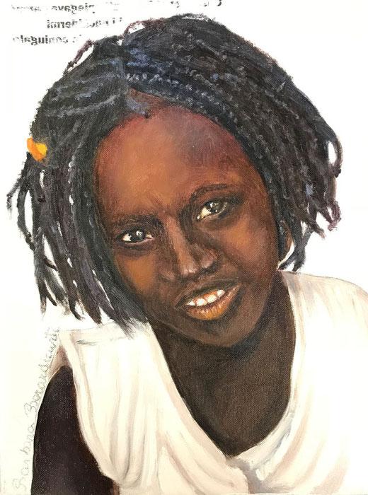Berardicurti Barbara - Bashir - olio su tela - 18 x 24