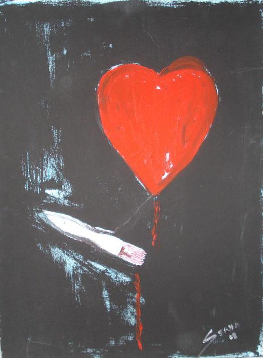 Ana Maria Serna - Con l'arte nel cuore - olio su tela - 60 x 80