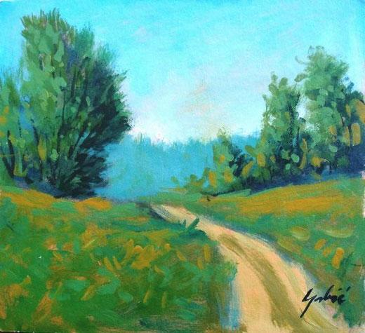 Grbic Alen - Landscape - olio tela - 15 x 10