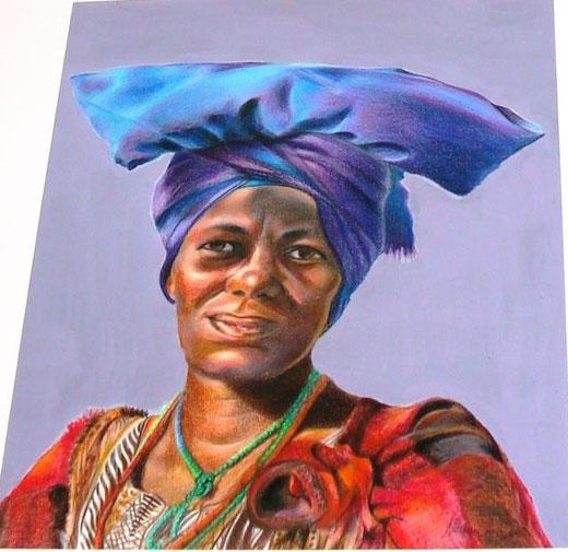 Manzi Rita mama africa matita su carta 30 x 40