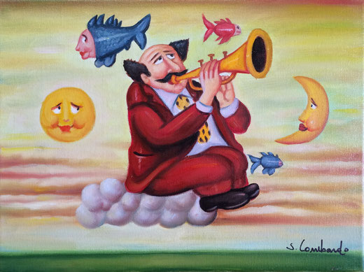 Lombardo Salvo(Italia) - Musico - olio su tela - 40 x 30.JPG