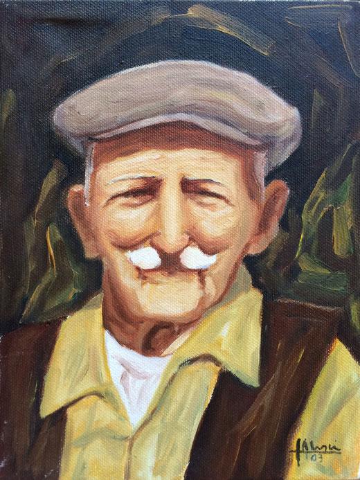 Alesci Francesco (Italia) - Ritratto di contadino - olio su tela - 18 x 24