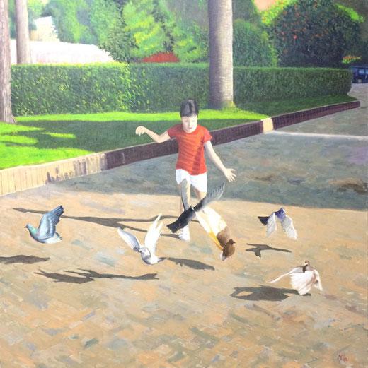Mileo Gianni (Italia) - Giochi - olio su tela 70 x 70