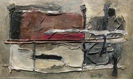Yuzzelli Shura Oyarce (Perù) - Libertà - tecnica mista su tavola di legno - 50 x 30
