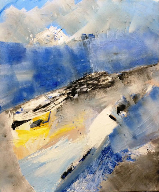 Gutt Andreas (Germania) - Les alpes - acrilico su tela - 50 x 70