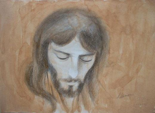 Laura Marchese – Gesù di Nazareth Acquarello, Cartone  Cartoncino, 70x50cm