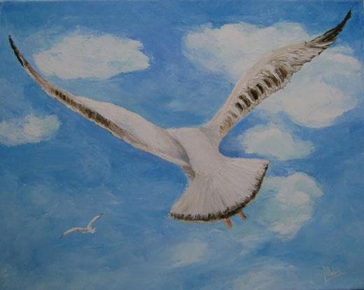 Nobili Maria - Freedom - olio tela  - 50 x 40