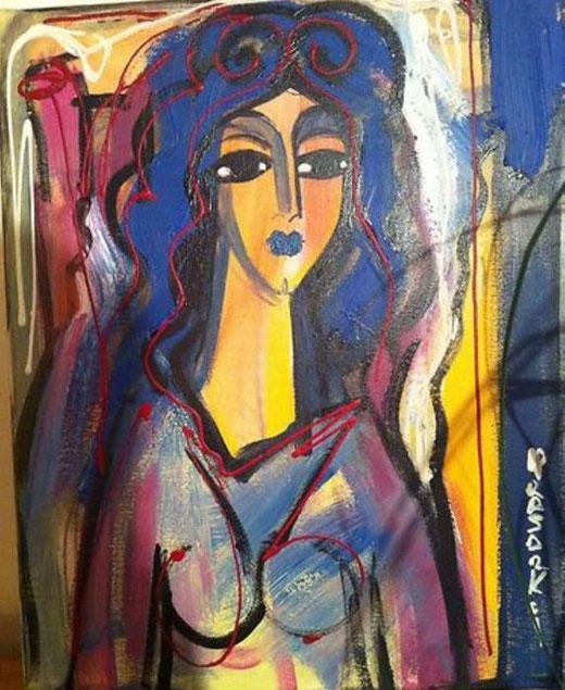 Keusseyan Hrair Sarkis – Desir - olio tela - 40 x 50