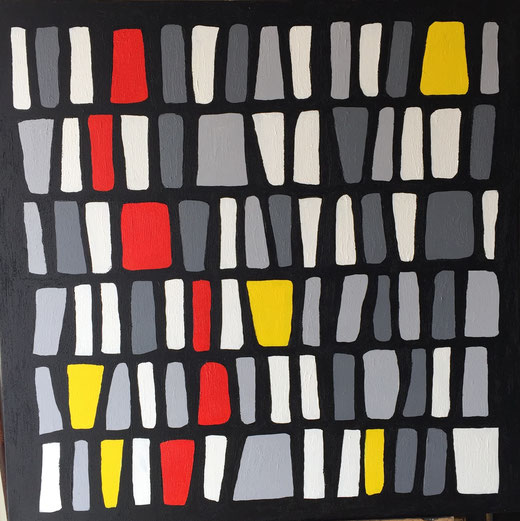 Tiziano Casarini - Regolarità - acrilico su tela - 100 x 100