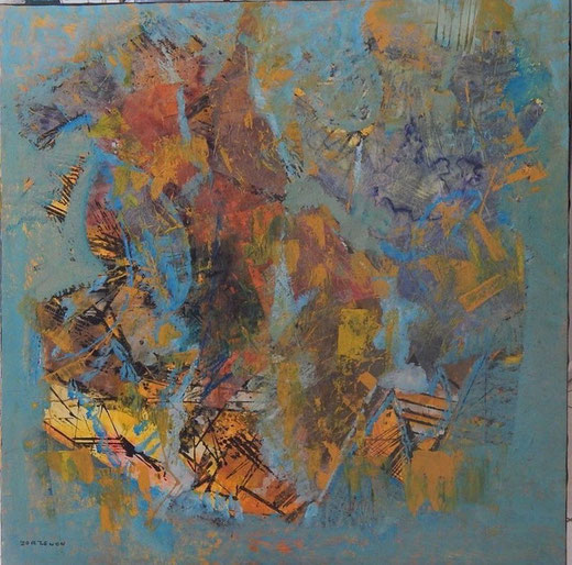 Elvio Zorzenon - Astratto - olio su tela - 100 x 100