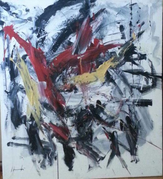 Silvio Formichetti - Astratto - olio tela - 80 X 90