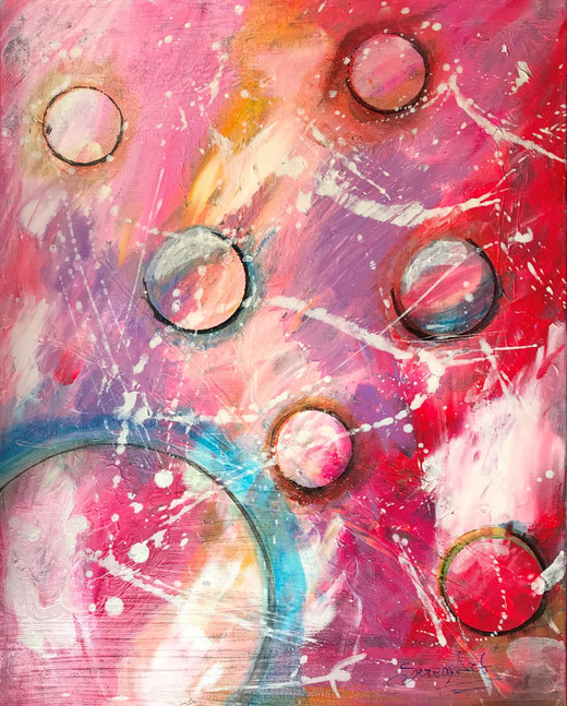 Vernole Serena - Benedetta Zahami - abstract - olio su tela - 40 x 50