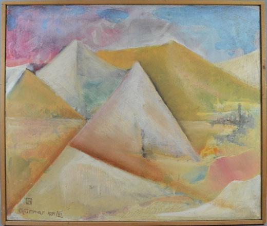 Bertrand Gunnar - Sahara  - olio su tela - 60 x 50