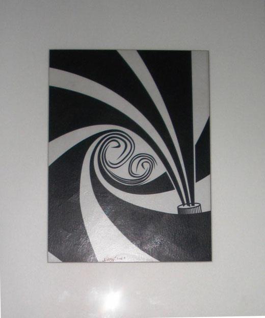 Demetrio Rizzo - Mater et filius - tecnica mista su carta - 20 x 30