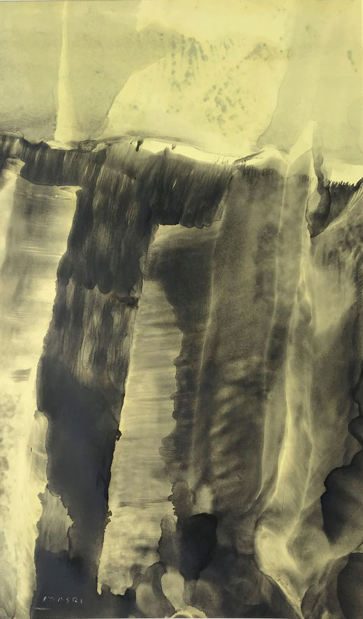 Masri - Landscape 1 - olio su carta - 29 x 48