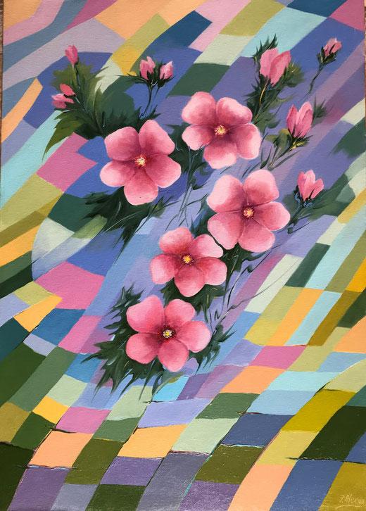 Fumagalli Alex - Pensiero - olio su tela - 50 x 70