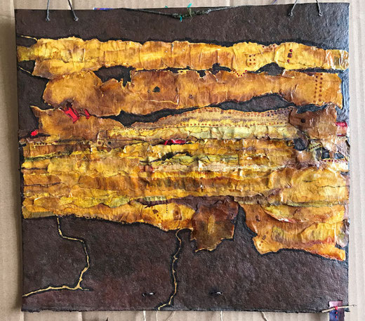 Pereyra Teresa - Memorias ancestrales - tecnica mista su cartone - 34 x 32