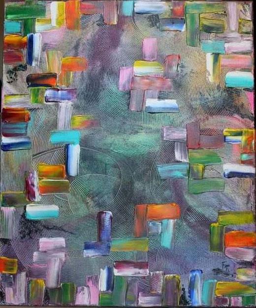 Francesco Renda - Strati d'animo - acrilico tela - 50 x 70
