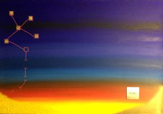 Delussu Marcello (Italia) - Sogni miei - olio su tela - 100 x 70