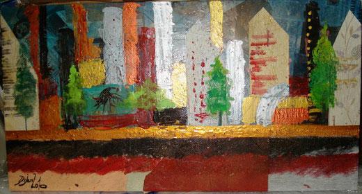 "Carlo Dezzani ""Dejan"" - 1414 - olio su tela - 97 x 51"