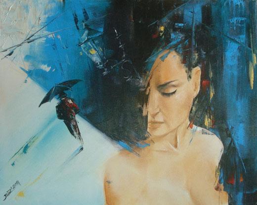 Iwona Wierkowska - se tu fossi qui - olio tela 50 x 40