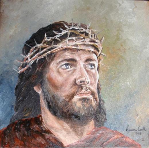 Conte Vincenza - Getsemani - olio tela - 40 x 40