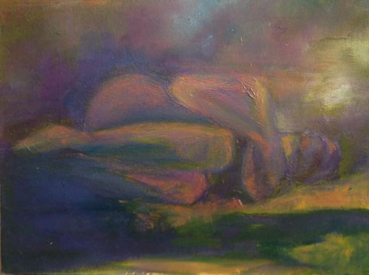 La Mantia Marilena - L' abbandono - olio tela - 40 X 30