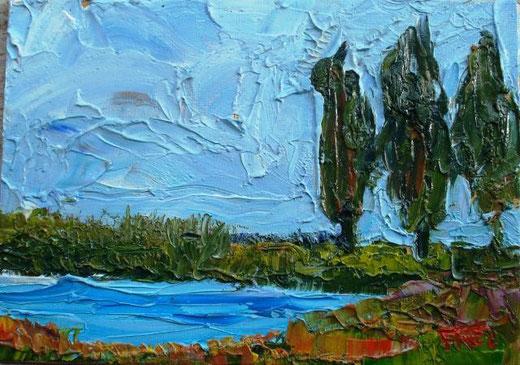 Frei Amanda - By the water - olio tela - 18 x 13
