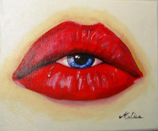 Mauro Alice - Miscuglio di sensi - olio su tela - 30 x 24