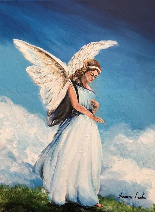 Conte Vincenza - L'angelo custode - acrilico su tela - 30 x 40