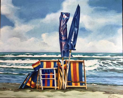 Bartalini Fidio - Marina - olio su tela - 100 x 80