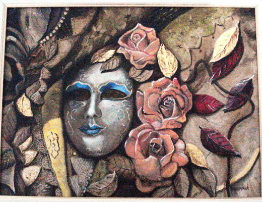 Angelo Bernava - Autunno - olio su tela - 40 x 30