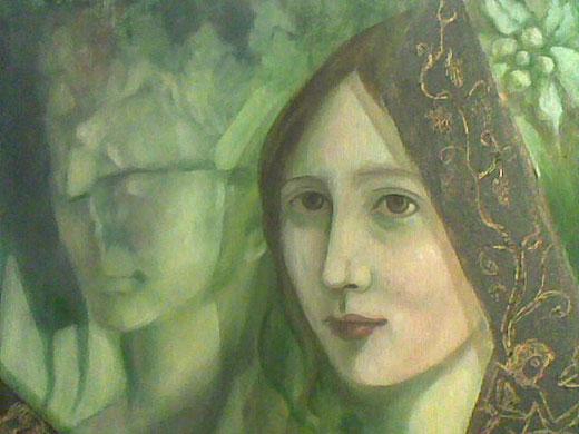 Patrizia Ricca - Allegoria - olio su tela - 50 x 40