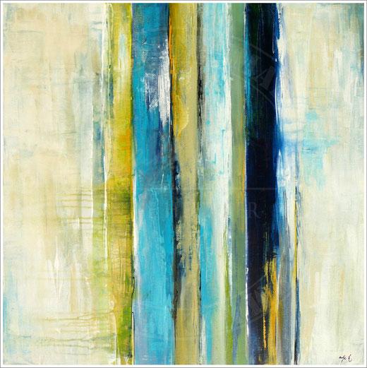 Antje Hettner - Astratto - olio su tela - 80 x 80