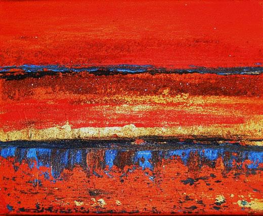Elisabeth Six- Astratto - olio su tela - 30 x 24