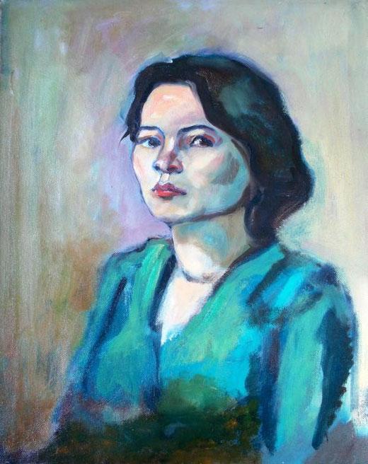 Damiani Giambattista   - Gianna - olio tela  - 40 X 50