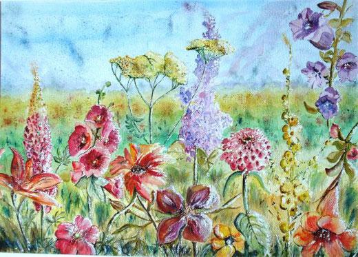 Disetti Marta - Il giardino della pace - Acquarello, Cartone  Cartoncino, 70x50cm