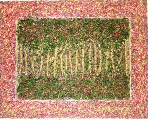 Pierpaolo Donadeo - Natura - tecnica mista su legno - 46 x 36
